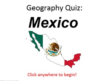 Powerpoint Game: Mexican Geography