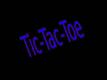 """Powerpoint Game """"Tic Tac Toe"""""""