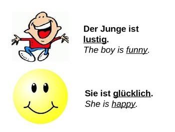 Powerpoint - German Level 1 - Adjectives Describing People