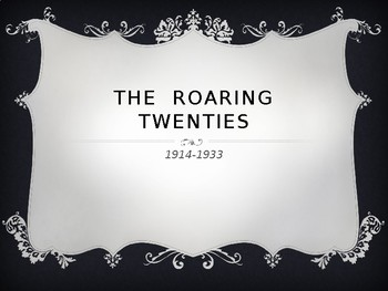 Powerpoint Introduction to the Roaring Twenties