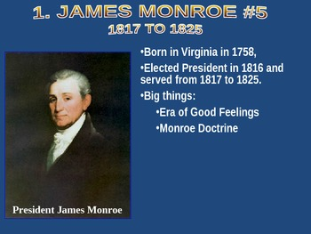 Powerpoint- James Monroe: Era of Good Feelings