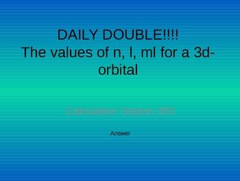 Powerpoint Jeopardy Game - Orbital Theory