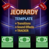 Powerpoint Jeopardy Game Show Template with Sound Effects
