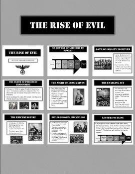 Hitler and The Rise of Evil -  11 Slide Dynamic Powerpoint!