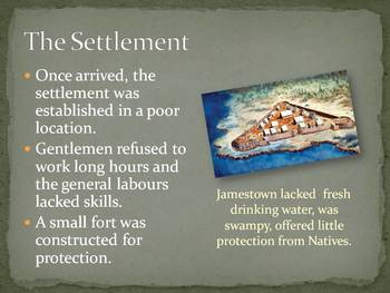 Jamestown Settlement Lecture Powerpoint: A Clear and Thorough Overview