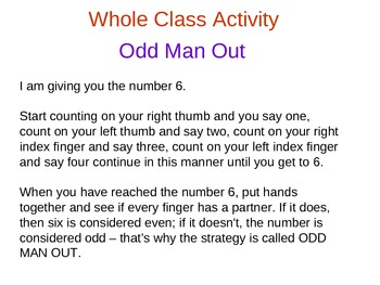 Powerpoint Lesson Odd and Even Numbers