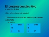 Powerpoint Lesson - Present Subjunctive/Subjunctive of Volition
