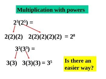 Powerpoint Multiply powers