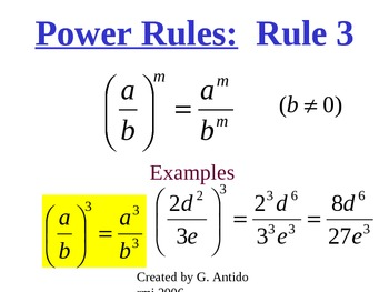 Powerpoint Multiplying Monomials Lesson