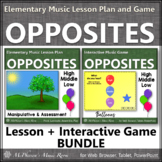 High Low Middle ~ Music Lesson Plan + Interactive Music Game Bundle {balloons}