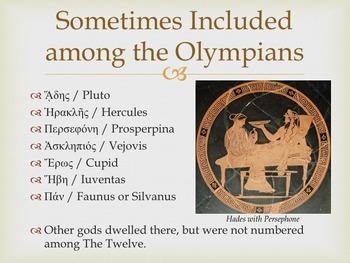 Powerpoint: Mythology: The Olympians