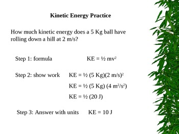 Powerpoint Notes - KE/PE energy - skeletal and complete