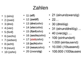 Powerpoint Numbers Time & Date Expressions in German Deutsch Zeiten Zahlen Datum