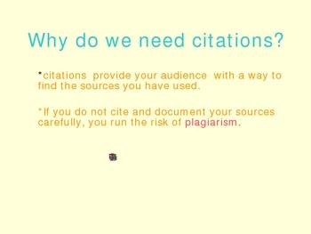 Powerpoint On Using MLA Citations