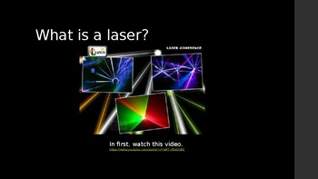 Powerpoint Optics Initiation: Laser in Space