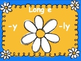 Powerpoint Phonics Drill Long e - 2 syllable with ly and y