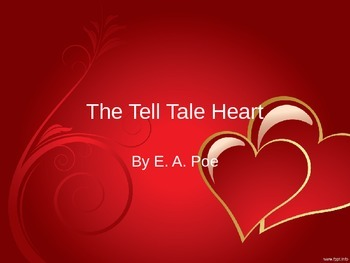 "Powerpoint Presentation for ""The Tell Tale Heart"" with three writing samples"