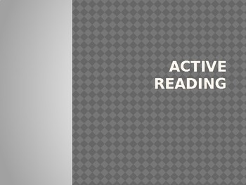 Powerpoint Presentation on Active Reading