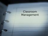 Powerpoint Presentation on Classroom management