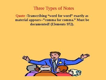 Powerpoint Presentation on Three Differnt Kinds of Notetaking