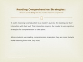 Powerpoint: Reading Comprehension: Strategies, Instruction