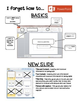 Powerpoint Reference Sheet