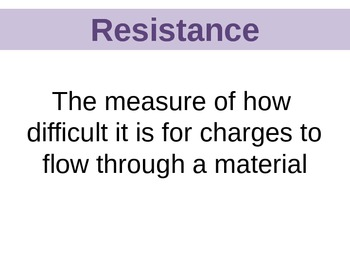 Powerpoint- Resistance Lecture