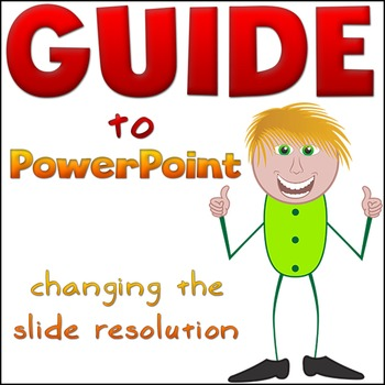 Powerpoint Resolution Change - GUIDE