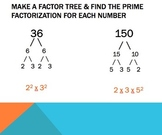 Powerpoint Review- GCF, LCM, Prime & Composite, and Factor Trees