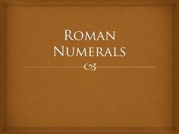 Powerpoint: Roman Numerals