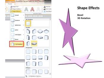 2D and 3D Shapes:  My City: PowerPoint 2007