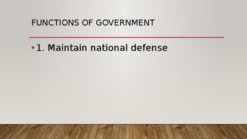 Powerpoint Slides for Government, Intro to Class, Basic Definitions, Concepts