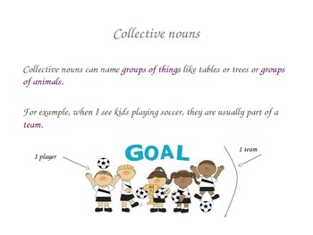 Powerpoint Slideshow to Introduce Collective Nouns- Common Core 2nd grade