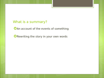 Powerpoint: Summary vs. Synthesis