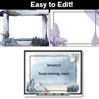 Powerpoint Templates Editable   Winter Theme   PPT Template