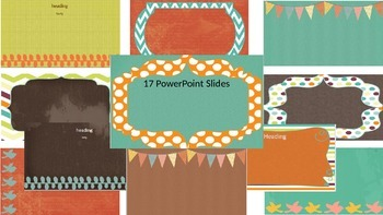 Powerpoint Templates - Rustic colors