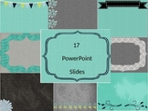 Powerpoint Templates- Slide Design Turquoise and Gray