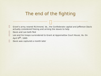 Powerpoint: The End of the American Civil War