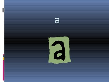 Powerpoint The Letter Aa