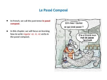 Powerpoint: The Passé Composé of Regular Verbs in French- introduction