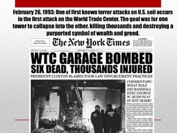 Powerpoint - The Roots of Terrorism: Major Events Leading Up to September 11th