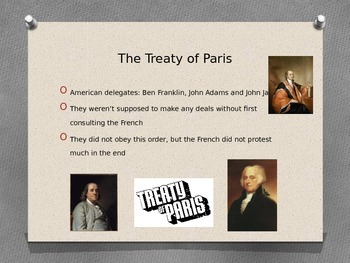 Powerpoint: The Treaty of Paris and why the British lost the American Revolution
