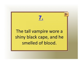 Powerpoint Vampire Concentration Game: Literary Terms Two