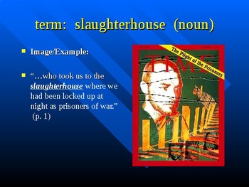 Powerpoint Vocabulary for Slaughterhouse Five