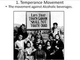 Powerpoint- Women's Suffrage Temperance Movement