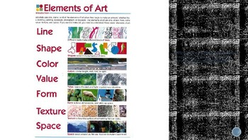 Powerpoint and Lesson- The Creative Process and the Elements of Art