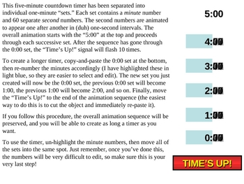 powerpoint countdown timer template set your own duration by