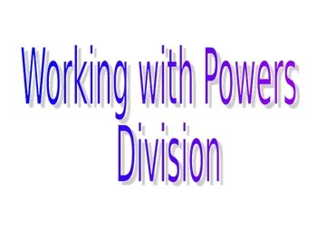 Powerpoint division of powers