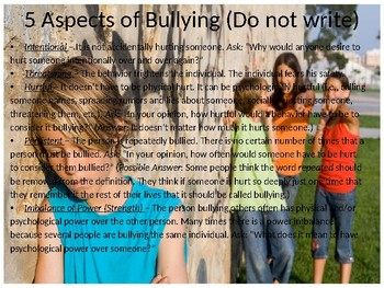 Powerpoint for Bullying and the Bystander Effect