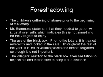"Powerpoint for Shirley Jackson's ""The Lottery"""